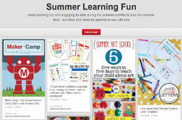 How Parents Can Use Pinterest To Keep Kids Learning Over the Summer - SocialTimes   Pinterest   Scoop.it