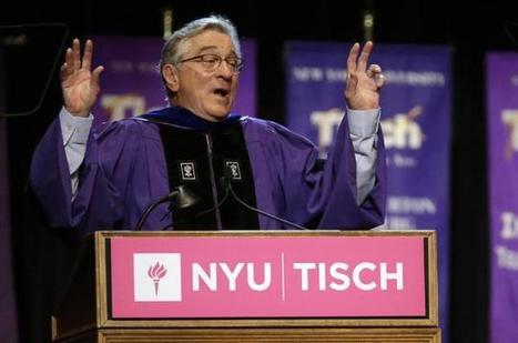 Robert De Niro gives amazing, brutally honest graduation speech to NYU Tisch School of the Arts grads | NY Daily News | Inside Voiceover—Cutting-edge Insights + Enlightening, Entertaining News for Voiceover Professionals | Scoop.it