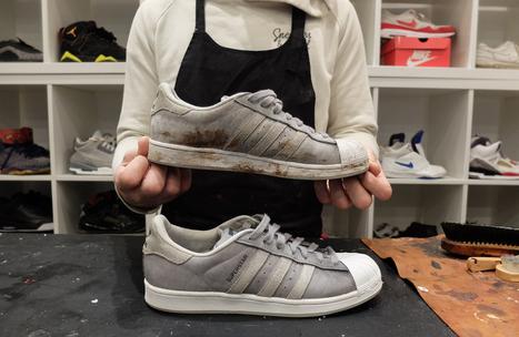 J'ai testé le premier atelier parisien de nettoyage de sneakers | Métiers, emplois et formations dans la filière cuir | Scoop.it
