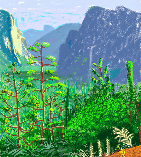 Art meets technology: How David Hockney Became the World's Foremost iPad Painter   Apps for learning   Scoop.it