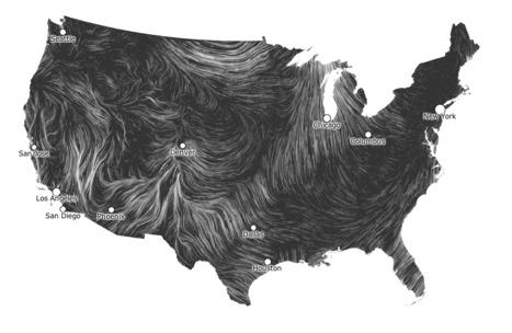 Voorbeeld: Wind Map | Datavisualisatie | Scoop.it