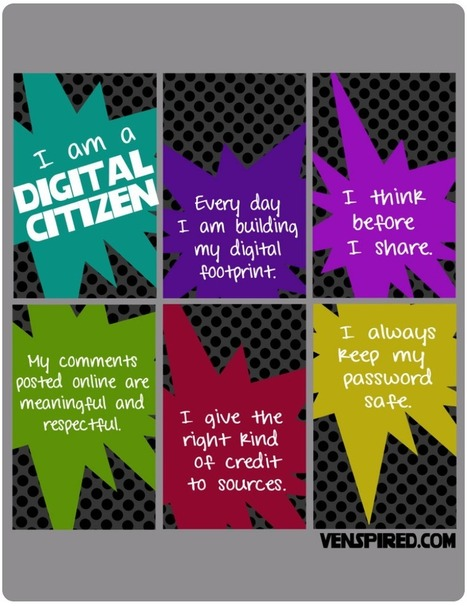 6 Good Classroom Posters on Digital Citizenship ~ Educational Technology and Mobile Learning | My Tools for school | Scoop.it