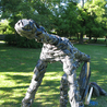 sculptures and land art and landscape paintings