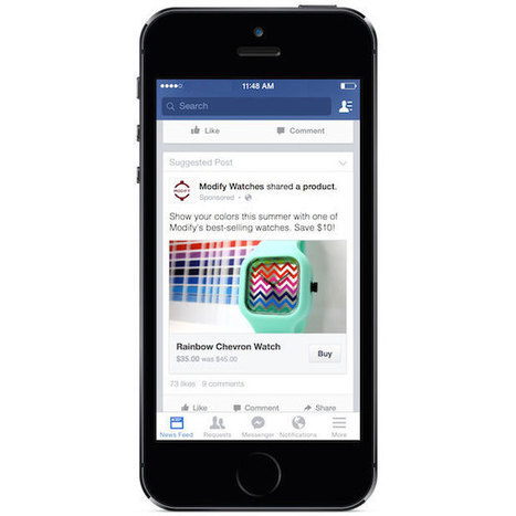 "Facebook: test per il pulsante ""Buy"" sui post delle Pagine 