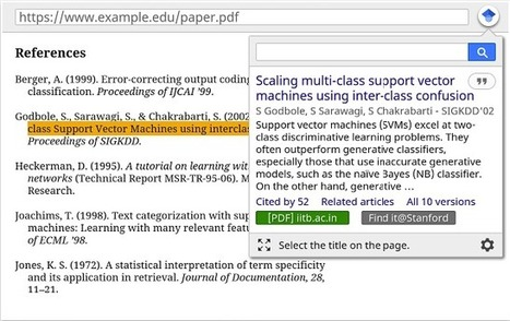 Google Released A New Powerful Chrome App for Google Scholar | Google in Libraries and Education | Scoop.it