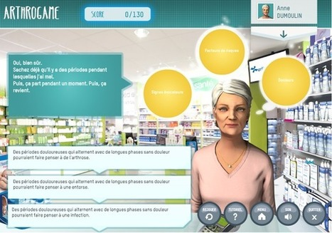 Arthrogame: Serious Games Reach Pharmacists Training | SERIOUS GAMES MARKET | Elearning & Serious Game | Scoop.it