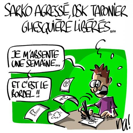 Sarko agressé, DSK Taponier Ghesquière libérés…   Baie d'humour   Scoop.it
