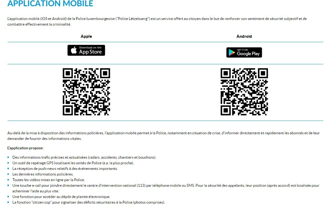 Application Mobile Portail De La Police
