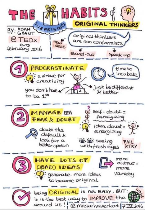 The surprising habits of original thinkers | Adam Grant | PLN.gr | Scoop.it