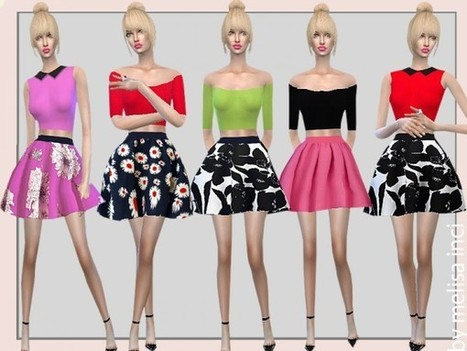 202a410647d The Sims Resource  Two Piece Short Dress by melisa inci