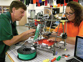2 AHS teachers build 3D printer - TheAlpenaNews.com | News, Sports, Jobs, Michigan, Community Information - The Alpena News | STEM News, Tools and Resources | Scoop.it