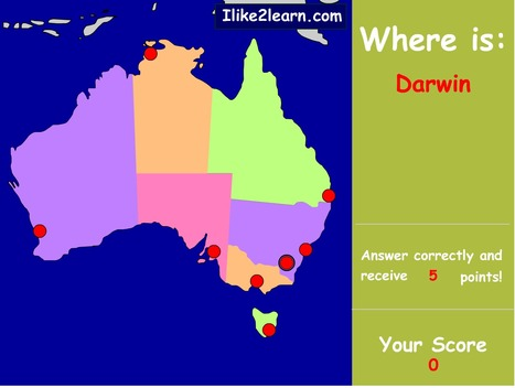 Geography Stage The Australian Continent Scoopit - Continent map quiz