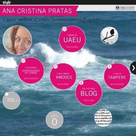 Ana Cristina Pratas's Vizify Bio | The School Aranda links and loves | Scoop.it