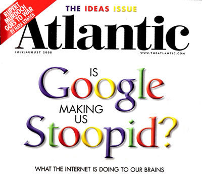 Is Google Making Us Stupid? | Too Big To Know | Scoop.it