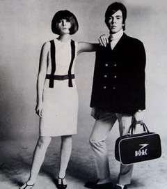 Thane Russal And Chrissie Shrimpton, 1966   The march of the Mods   Scoop.it