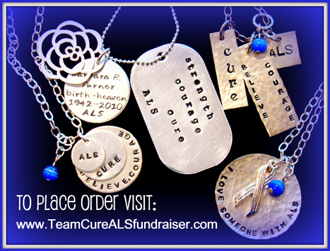 Inspirational & Unique | One of a Kind | Sterling Silver Jewelry | Hand Stamped-Made in Oregon | USA | #ALS AWARENESS #LouGehrigsDisease #PARKINSONS | Scoop.it