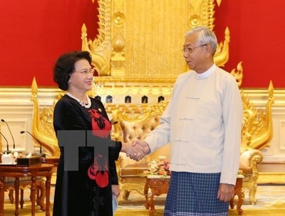 NA Chairwoman meets with Myanmar's leaders - News VietNamNet
