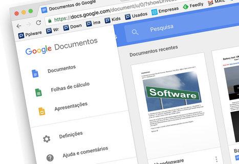 5 Funcionalidades do Google Docs que devíamos conhecer - Pplware   Tablets na educação   Scoop.it