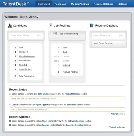 Posting Jobs & Applicant Tracking Made Easy and Affordable - Review of TalentDesk | Best HR Apps | Scoop.it