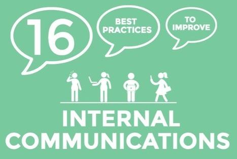 [Infographie] 16 bonnes pratiques en communication interne - Com'In   Management, Change management   Scoop.it