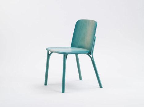 La Split Chair d'Arik Levy, aux pieds fendus et cintrés, a son dégradé appliqué à la main. | inoow design lab | Scoop.it