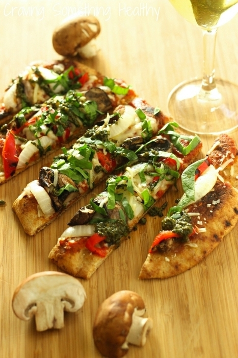 #HealthyRecipe ~ Grilled Vegetable Flatbread Pizza | The Man With The Golden Tongs Goes All Out On Health | Scoop.it