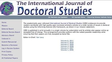 International Journal of Doctoral Studies   Educación flexible y abierta   Scoop.it