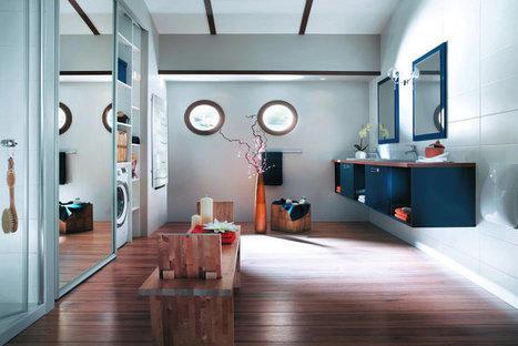 Modele salle de bain : idee decoration original...