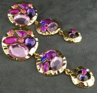 Park Lane Vintage Pink Purple Lavender Earrings $35 | Vintage Passion | Scoop.it