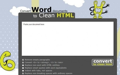 Para transformar documentos Word en textos HTML | sindofdez