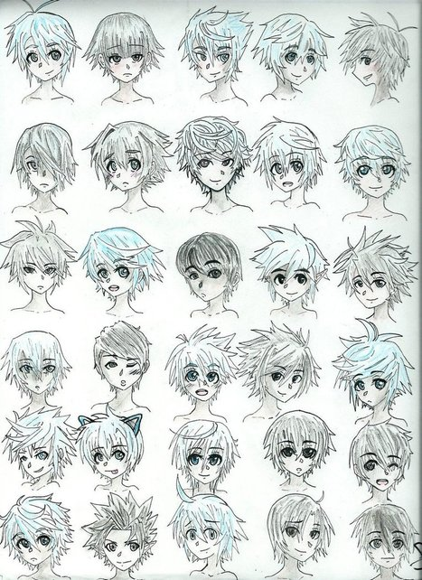 Manga Boy Hairstyles Updated Drawing Refere