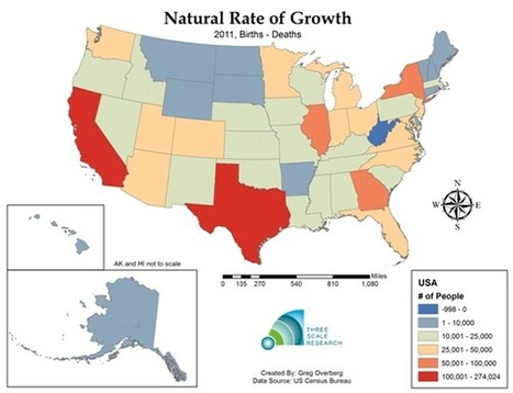 Is The United States Population Heading to Long-term Deceleration? | Newgeography.com | AP Human Geography, WHS 2012-2013 | Scoop.it