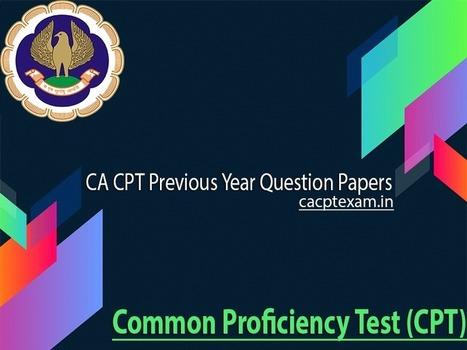 Cpt Exam Paper Pdf