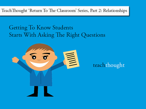 Getting To Know Students? Ask The Right Questions | Create and Communicate | Scoop.it