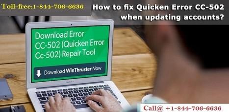 Call +1-844-706-6636 How to Fix Quicken Error C...