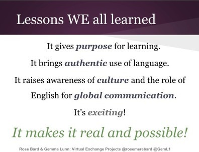Virtual exchange for language learning: Rose Bard | Technology and language learning | Scoop.it