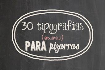 30 tipografías de pizarra para descargar gratis | desdeelpasillo | Scoop.it