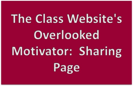 Class Website's Overlooked Motivator-Sharing Page | MyWeb4Ed | MyWeb4Ed | Scoop.it