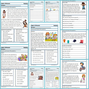 Reading and writting. Fichas de Inglés para Tercero Primaria - Educapeques | Colegio San Marón - Primaria | Scoop.it