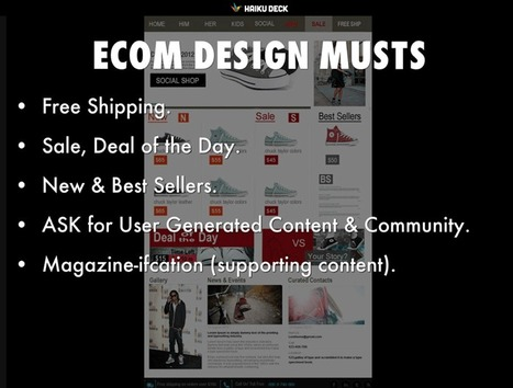ECommerce's Website Design New Best Practices: What Are Today's Ecom Must Haves? | Ecom Revolution | Scoop.it
