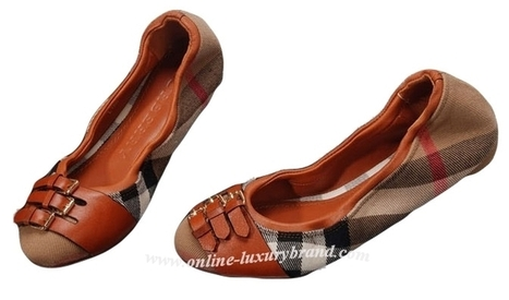 butberry outlet imm4  Burberry Ladys Bridle House Check Ballerinas Chocolate [B006393]