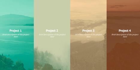 CSS & jQuery Sliding Panels Portfolio Template | Web Design | Scoop.it