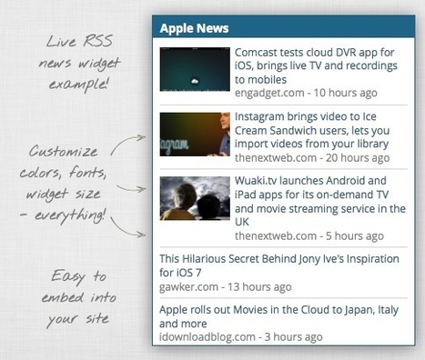 Create Custom RSS News Widgets for Your Website with FeedGrabbr | Web Publishing Tools | Scoop.it