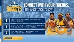 Denver Nuggets Become First NBA Team to Sell Tickets Directly from Facebook | Ad Vitam Basketball | Scoop.it