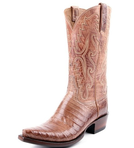 e413e9625 Lucchese Classic Tan Wax Caiman Belly Cowboy Boots - PFI Western Store