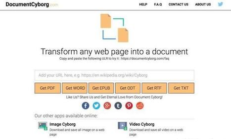 DocumentCyborg. Transformer une page web en un document | formation reseaux sociaux, internet, logiciels | Scoop.it