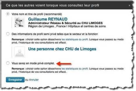 Comment être anonyme sur Linkedin. | Informatique TPE | Scoop.it