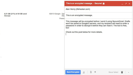 SecureGmail Encrypts Your Gmail Messages with One Click   Indignados e Irrazonables   Scoop.it