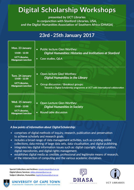 Digital Scholarship Workshops presented by UCT Libraries | Digital Library Services | Digital Collaboration and the 21st C. | Scoop.it