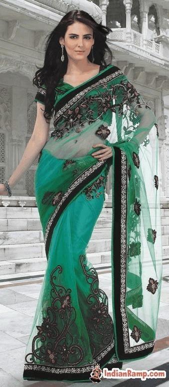 Heavy Work Designer Net Sarees, Wedding Wear Ne...